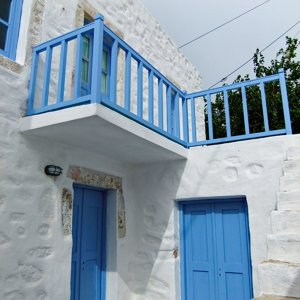 restored old, stone house in Agia Marina, Leros